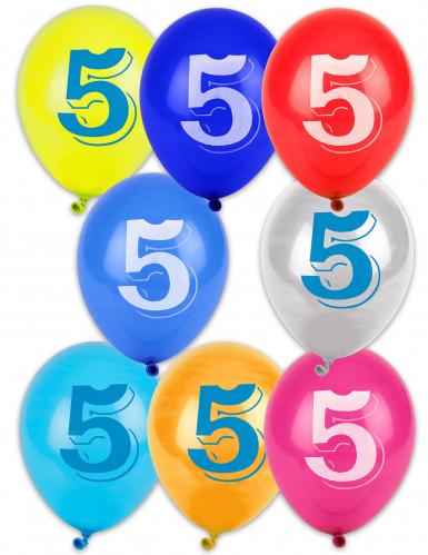 8 palloncini numero 5