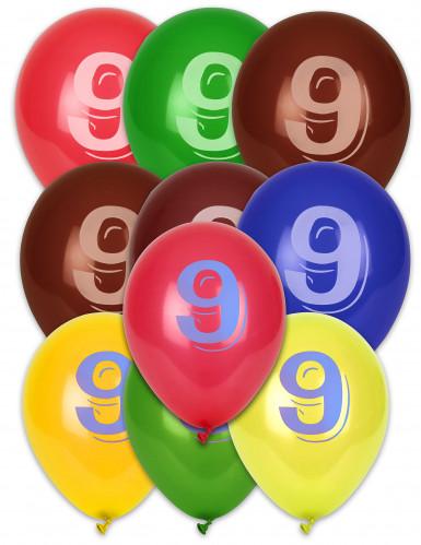 8 palloncini numero 9
