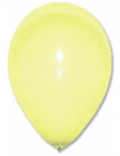 12 palloncini giallo chiaro
