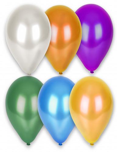 12 palloncini colori vari metallizzati
