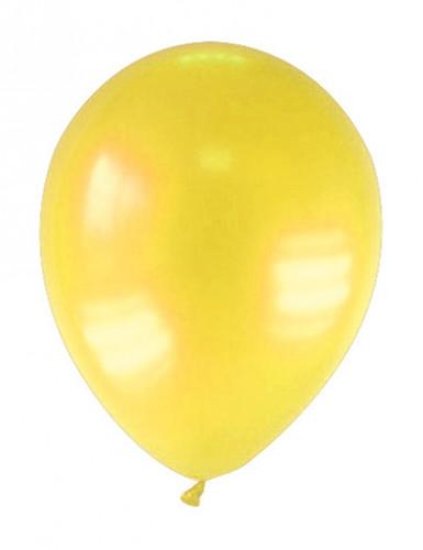 12 palloncini gialli metallizzati