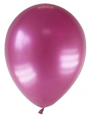 12 palloncini bordeaux metallizzati