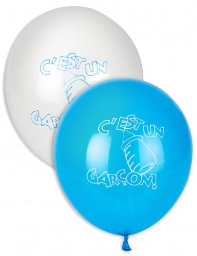 10 palloncini blu e bianchi È un maschio!