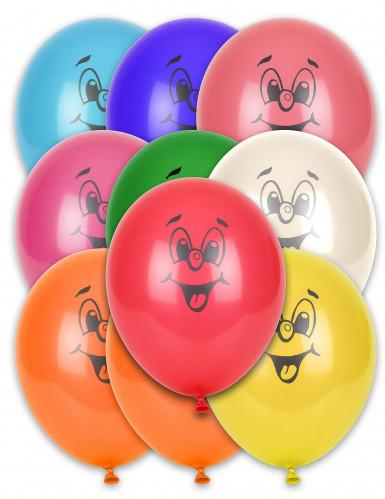 10 palloncini multicolor smile