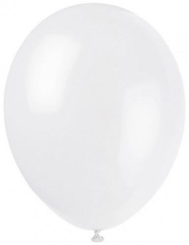 100 palloncini bianchi 27cm