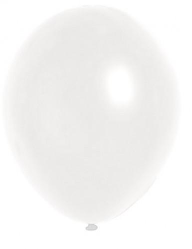 100 palloncini metallizzati bianchi 29 cm