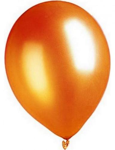 Palloncini metallizzati arancioni 29 cm