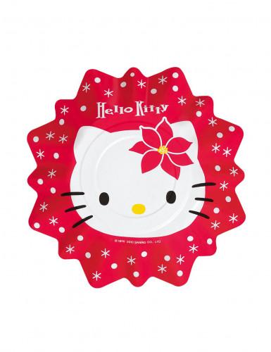 Piattini di carta Hello Kitty™ in rosso