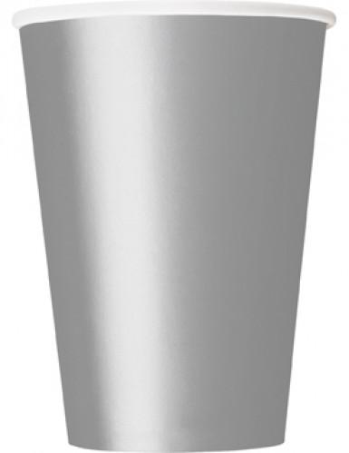 10 bicchieri cartone argento