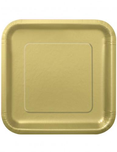 14 piatti di cartone oro grandi