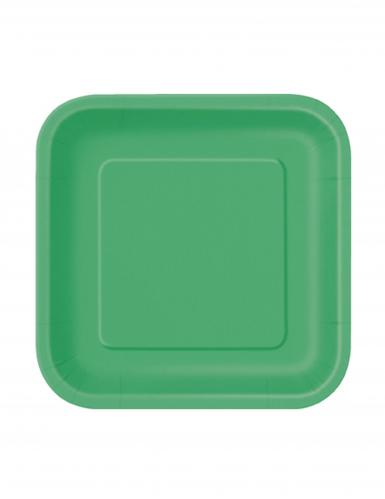 16 piattini cartone verde smeraldo