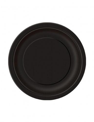 Confezione 20 piatti tondi in cartone neri addobbi e - Piatti bianchi e neri ...