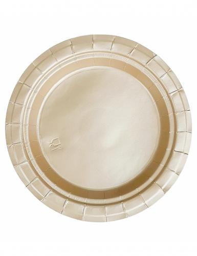 20 piattini di cartone oro