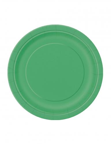 20 piattini di cartone verde smeraldo