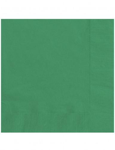20 tovaglioli verde smeraldo