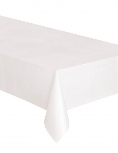 Tovaglia rettangolare in plastica bianca 137 x 274 cm