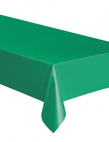 Tovaglia rettangolare in plastica verde smeraldo