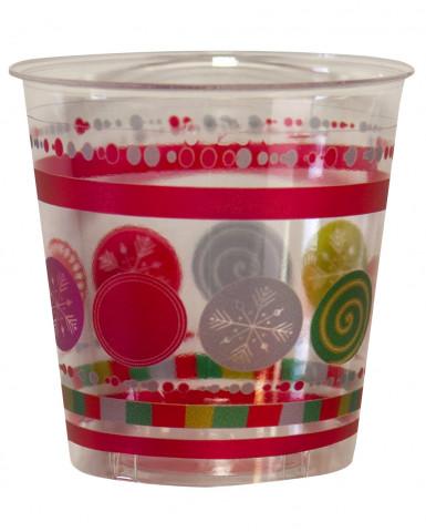 Bicchieri natale con palle