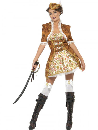 Costume pirata sexy Steam Punk per donna-3
