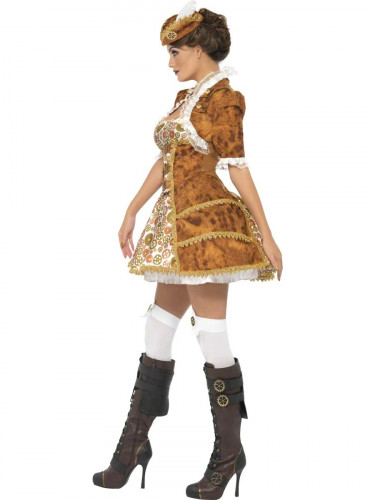 Costume pirata sexy Steam Punk per donna-1