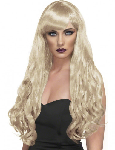 Parrucca lunga ondulata bionda Donna