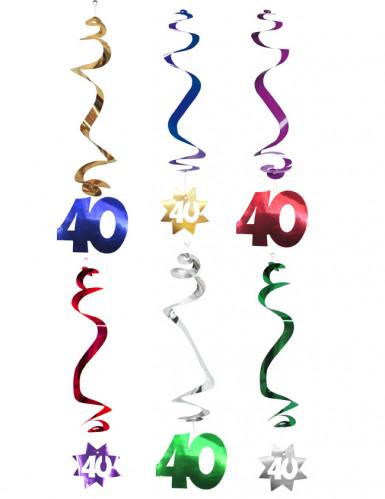 6 decorazioni da appendere spirale 40 anni