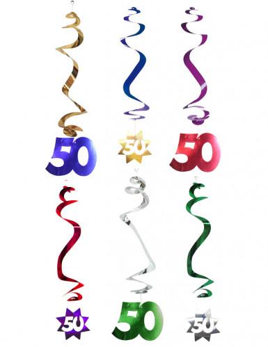 6 decorazioni da appendere spirale 50 anni
