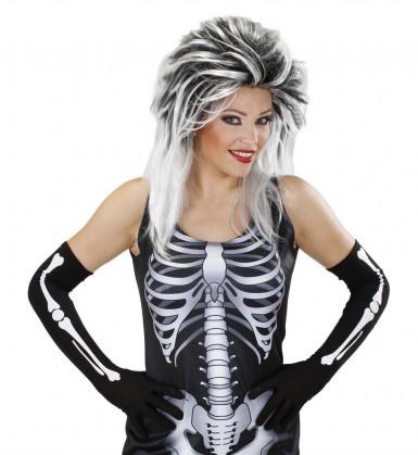 Guanti lunghi scheletro adulto