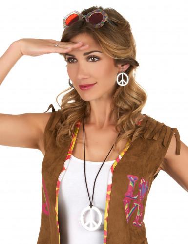Collana e orecchini Hippie adulto-1