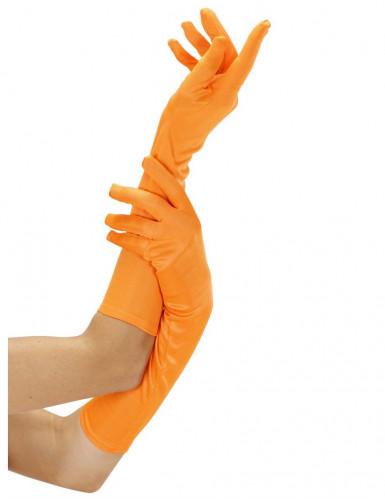 Guanti arancioni fluo lunghi