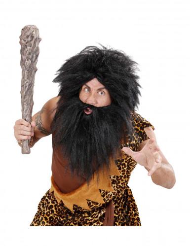 Parrucca con Barba nera Adulto-2