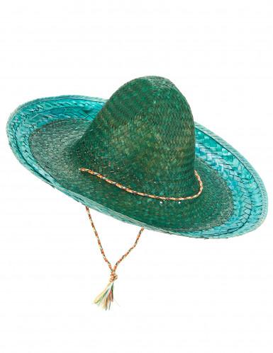 Sombrero messicano verde adulto