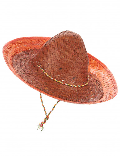 Sombrero messicano arancione adulto