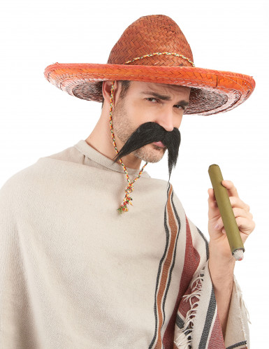 Sombrero messicano arancione adulto-1