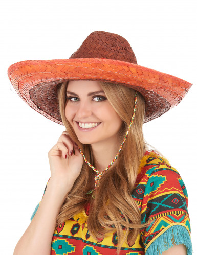 Sombrero messicano arancione adulto-2