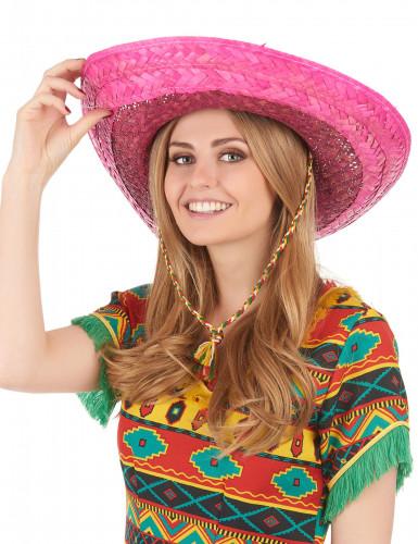 Sombrero messicano rosa adulto-2