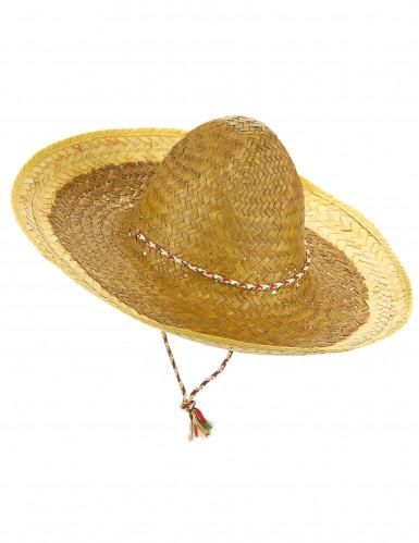 Sombrero messicano giallo adulto