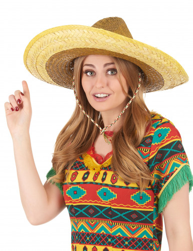 Sombrero messicano giallo adulto-2