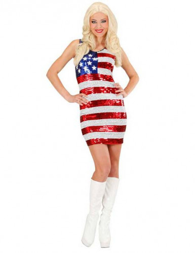 Costume da miss USA in paillette da donna