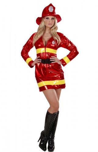 Costume pompiere rosso sexy donna
