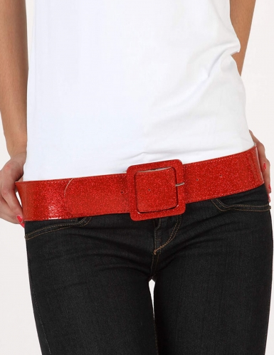 Cintura brillante rosso donna