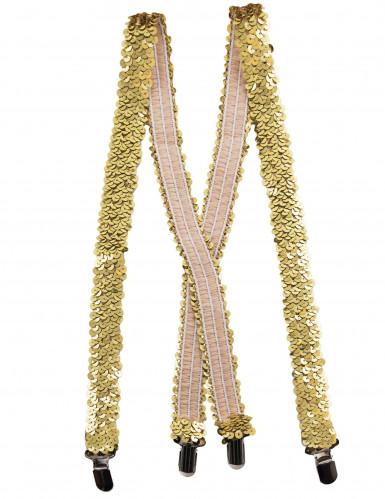 Bretelle con paillettes oro