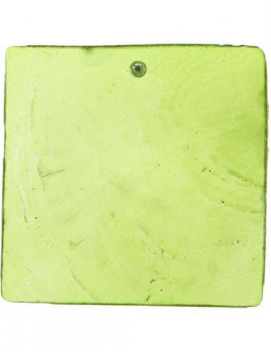6 segnaposto quadrati verdi