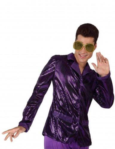 Giacca disco viola brillante uomo