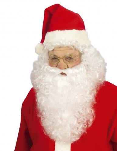 Parrucca con barba Babbo Natale uomo