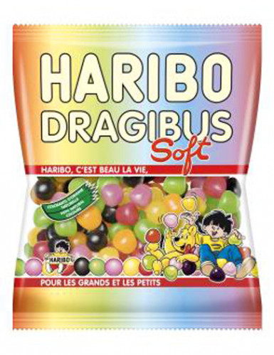 Sacchetto di caramelle Haribo dragibus