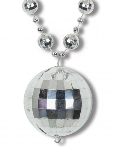 Collana argentata palla disco-1