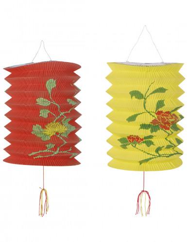 Lanterne cinesi rosse e gialle
