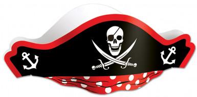 Cappello di carta nero Pirata da adulto