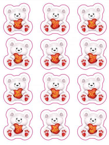 Adesivi con orsi San Valentino